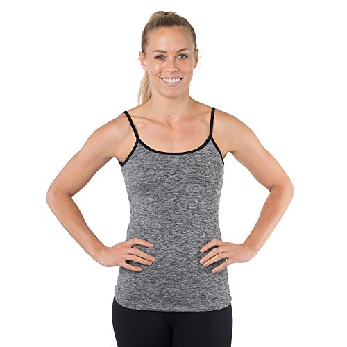 Yoga Top With Built In Bra, Open Back Workout Tank, Women
