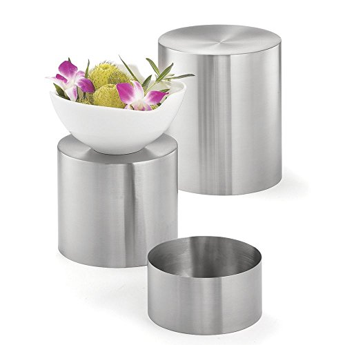 Stainless Steel Riser Set - Tablecraft Round Riser Set, Stainless, 3-6-9-Inch