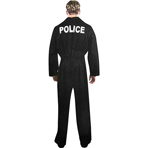 Adult Police Uniform Jumpsuit Costume (Size: Small 36-38) (Police Uniforms For Sale)