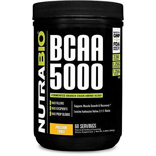 Best Bcaa Passions - NutraBio BCAA 5000 Powder - 60