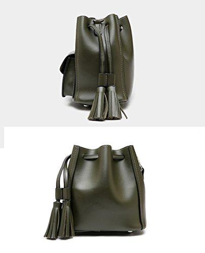 bolso MinottaUKD6039 de elegante de Minotta Sintético mano Verde Mujer PBqnnw
