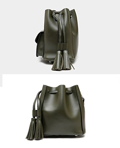 Mujer MinottaUKD6039 mano Sintético de Verde Minotta bolso elegante de w0ZFzxWqH