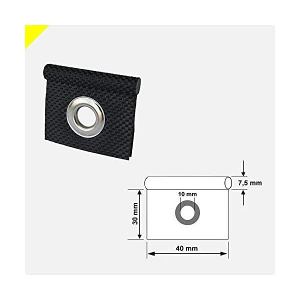 41ZryziGPXL GeKaHo 5 x Kederöse für Kederschiene weiß/schwarz D=7,5 mm Camping Öse Kederband Vorzeltkeder