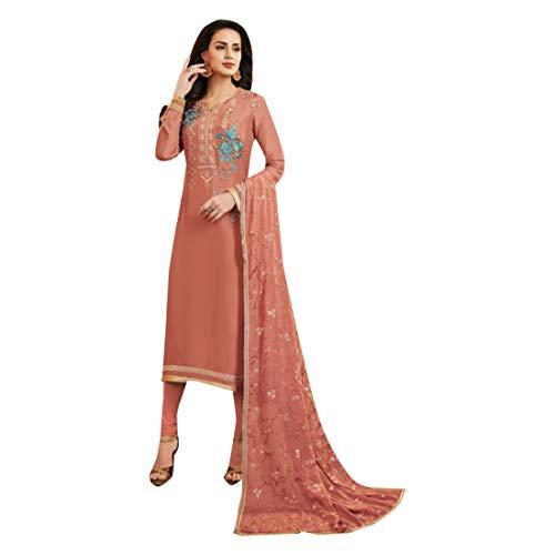 Bollywood Salwar Dritto Sposa Girl Donna Pakistana Kamiz Abito Festa Dirndl Top Da Salopette Kurti 740 Kameez Pantalone Completo Georgette 1YqW5
