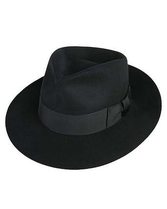 Jackson Fedora Hat in Black at Amazon Men s Clothing store  f2cf3e20b7c
