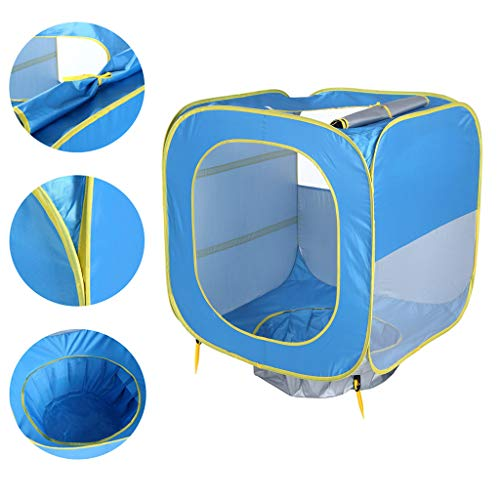 Solovley Indoor Play Tent for Kids, Outdoor Pop Up Foldable Playhouse for Baby & Toddler Boys Girls Portable Beach Tent with Carry Bag