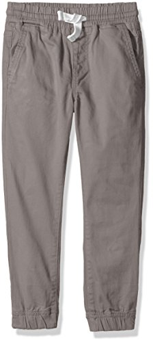 Lucky Brand Boys' Little Woven Jogger, Steel Grey, 6