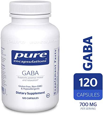 Pure Encapsulations - GABA - Supports Positive Mood and Relaxation* - 120 Capsules