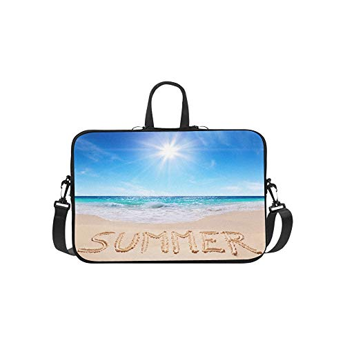 Sea Summer Sky Beach Nature Wallpaper Pattern Briefcase Laptop Bag Messenger Shoulder Work Bag Crossbody Handbag for Business Travelling (Best Nature Wallpapers For Laptop)