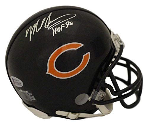 (Mike Singletary Autographed/signed Chicago Bears Mini Helmet HOF)