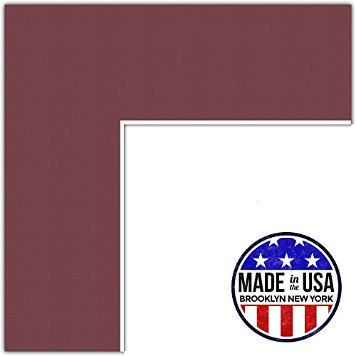 (20x28 Merlot / Maple Leaf Custom Mat for Picture Frame with 16x24 opening size (Mat Only, Frame NOT Included))