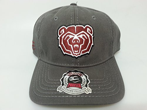 New Missouri State University Grey Fitted Flex-Fit Hat by NCAA