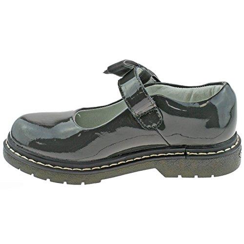 dr01 Fitting Frankie Kelly School Shoes Patent 33 Lelli 1 uk F Lk8286 Grey xH1EBqnWzw
