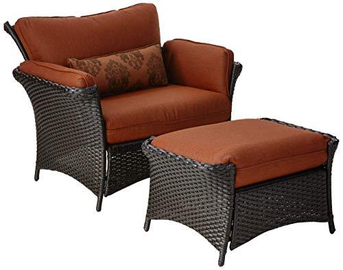 Hanover STRATHALLURE2PC-P STRATHALLURE2PC Strathmere Allure 2-Piece Steel Seating Set Outdoor Furniture, Rust/Espresso ()