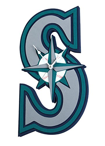 Foam Fanatics Seattle Mariners Foam Logo Clock - Seattle Mariners Hanging