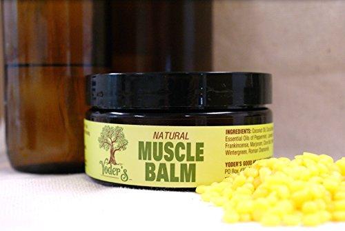 Yoder's Natural Muscle Balm 8 Ounce Jar (Original Version) (Muscle Balm)