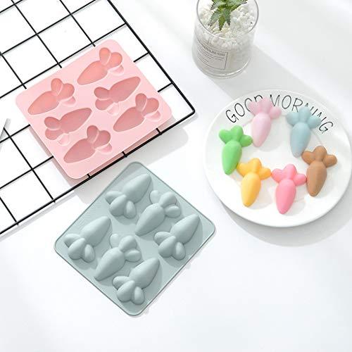 Abcidubxc Molde de silicona para tartas con forma de zanahoria, antiadherente, 15,5 x 17,5 cm