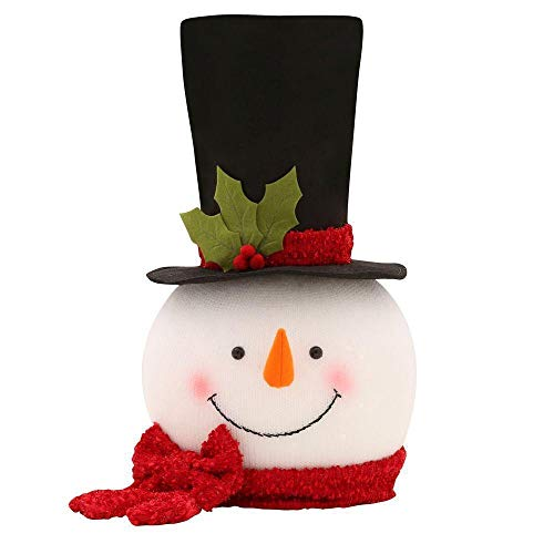 Frosty Snowman Top Hat Christmas Tree Topper Decor Holiday Winter Wonderland Decoration by KNL Store]()