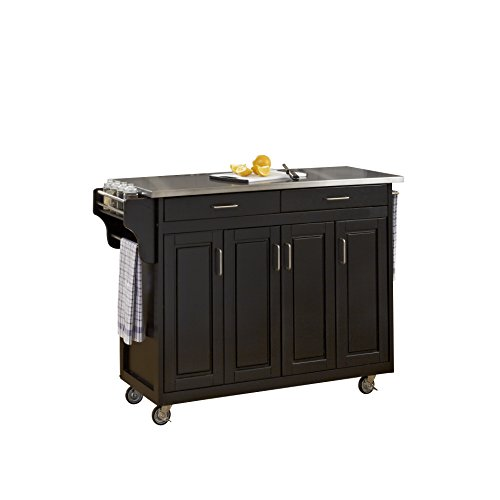 Home Styles 9200-1042 Create-a-Cart 9200 Series Cabinet Kitchen Cart with Stainless Steel Top, Black Finish by Home Styles (Image #2)