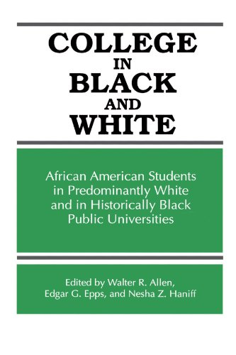 Search : College in Black and White: African American Students in Predominantly White and in Historically Black Public Universities (SUNY series, Frontiers in Education)