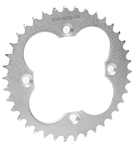 Race Driven 38T Rear Driven Silver Sprocket 520 Pitch for Honda TRX450R 450R ACT250R 250R TRX400EX TRX 400EX 400X 300EX ()