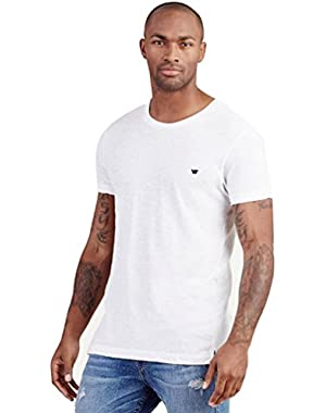 Men's Russell Westbrook Elongated Slub Tee T-Shirt in White (Medium, White)