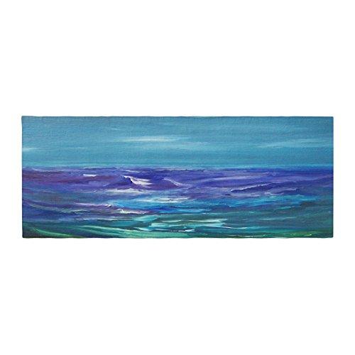 "Kess InHouse Cyndi Steen Moonlit Waves Blue Purple Bed Runner, 34"" x 86"""
