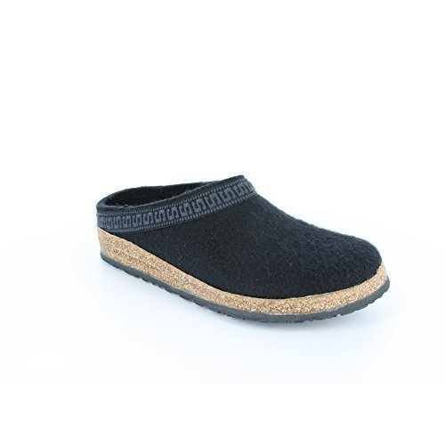 Stegmann Men's Wool Felt Clog with Cork Sole,Black,9 M US