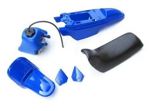 4LYAMAHA PW50 PW 50 PLASTIC SEAT GAS TANK KIT BLUE PS38 PCC MOTOR