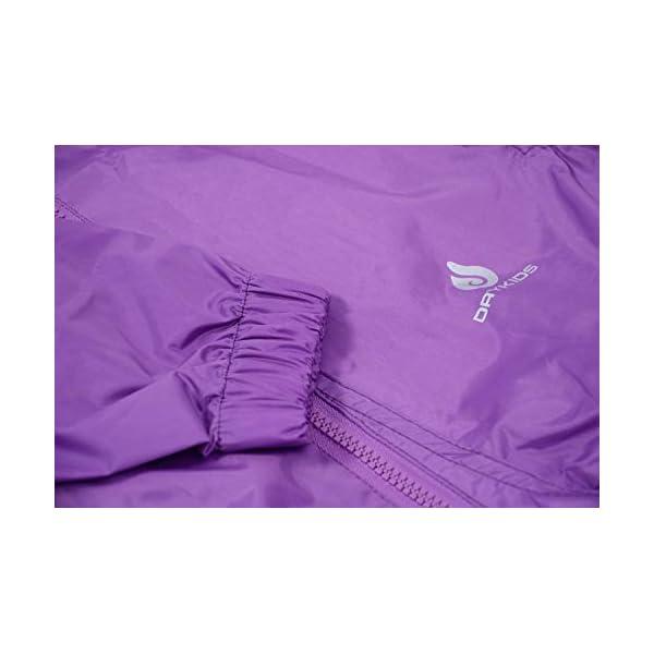 DRY KIDS Waterproof Rainsuit Purple 7//8yrs