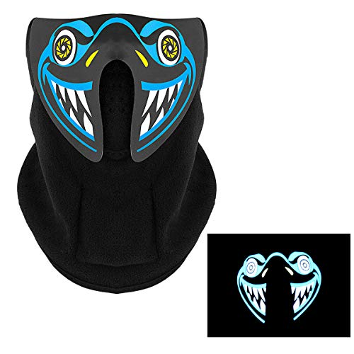 Music LED Mask,Windproof Motorcycle Winter Warm Face Mask for Xmas Party,Riding -