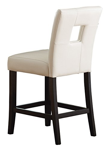 Homelegance 3270-24S1W Bi-Cast Vinyl Chair, White, Set of 2 (And Table Chairs Height Counter White)