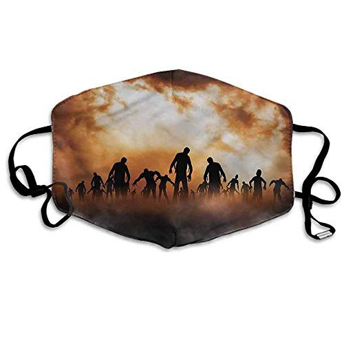 Halloween Fashion Mouth Mask Zombies Misty for Cycling Camping Travel W4