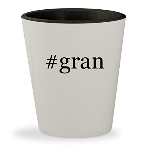 Price comparison product image #gran - Hashtag White Outer & Black Inner Ceramic 1.5oz Shot Glass