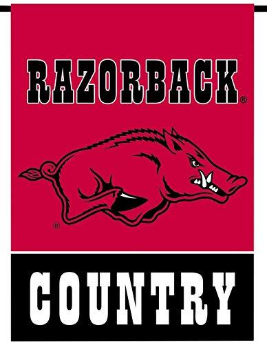 Arkansas Razorbacks Country Premium 2-Sided Garden Flag Banner University of