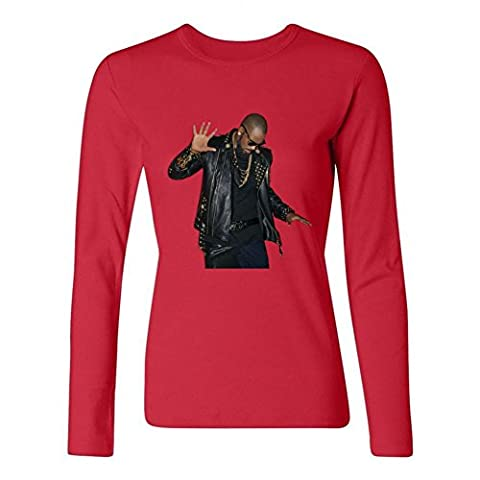 YangJJ Women's R. Kelly The Buffet 2015 Poster Long Sleeve T shirts Size M Red (What Did Kanye)