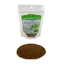 Organic Alfalfa Sprouting Seed- 1/4 Lbs (4 Oz.) - Organic - High Sprout Germination- Edible Seeds, Gardening, Hydroponics, Growing Salad Sprouts, Planting, Food Storage & More