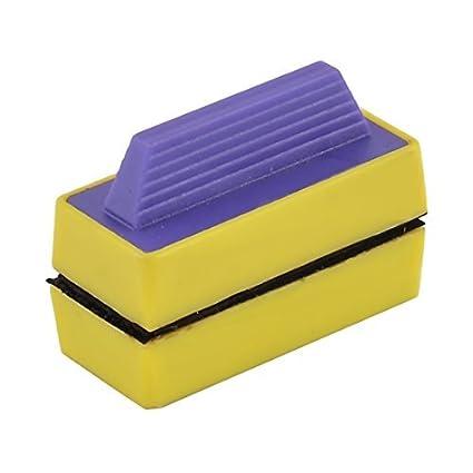eDealMax imán magnético de Cristal del acuario algas raspador de cepillo de Lavado limpiador Púrpura Amarillo
