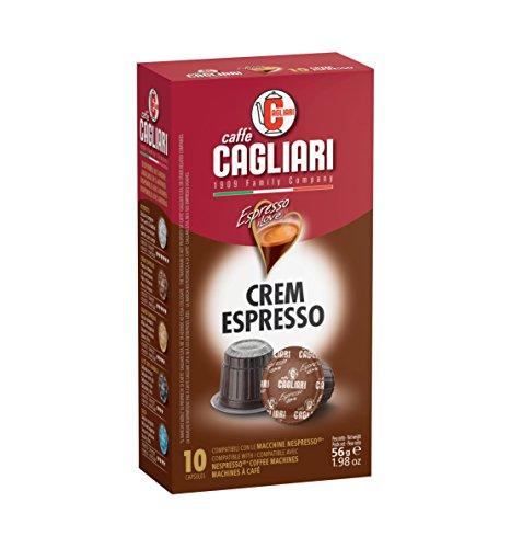 NEW! Caffé Cagliari (Nespresso Compatible Capsules) (Crem Espresso, 16 boxes (case))