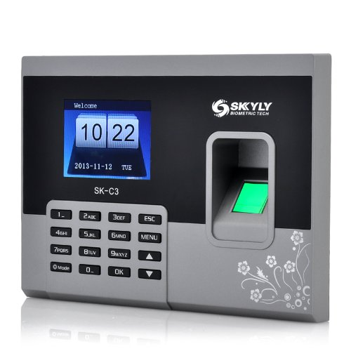Generic Fingerprint Time Attendance System - 2. 8 Inch 320x240 Display, 150000 Record Capacity by SKYLY