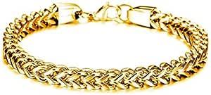 سوار ذهبي مصنوع من ستانلس ستيل ذ1و شحصية أحسن هدايا للرجال موديل GS671