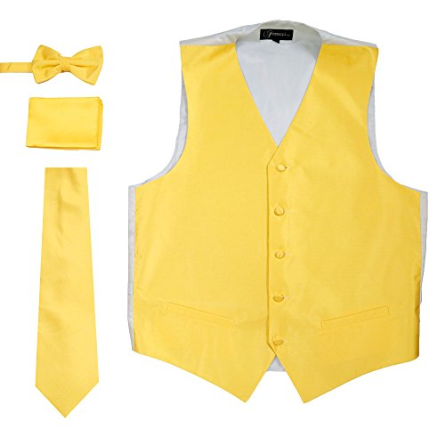 Ferrecci XL 450N-38 Yellow/Grey Solid Vest Set