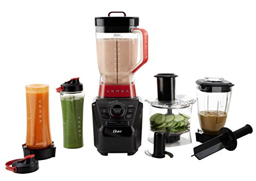Oster Manual Blender - Oster Versa Pro  BLSTVB-104-000  Series Blender with Food Processor Attachment, Blend-N-Go Smoothie Cups & 4-cup Mini Jar