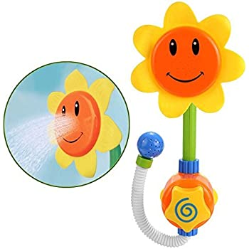Baby Bath Toys Sunflower Water Shower Spray Bathing Tub Fountain Toys for Kids Gifts