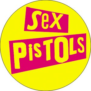 Pistol Pin (Sex Pistols - Stacked Logo - Pinback Button 1.5