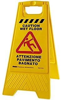 perfetto factory wet floor cartello pavimento bagnato plastica giallo 30x49x565 cm