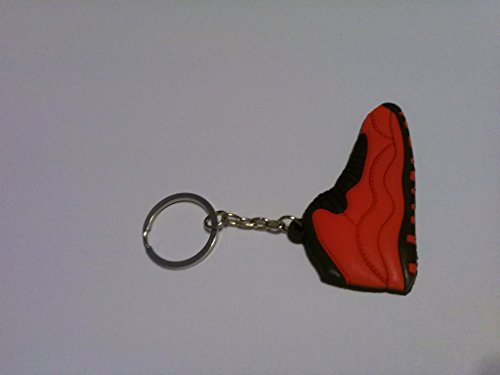 Air Jordan 10/X Fusion Fire Red/Black Sneakers Shoes Keychain Keyring AJ 23 Retro - Fusion Jordan Shoes