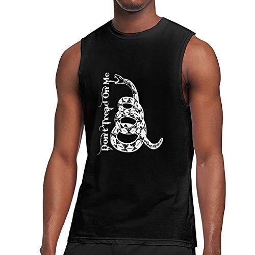 Mens Don't Tread On Me Muscle Sleeveless Shirt, Basal Vest for Summer Sport Gym Black