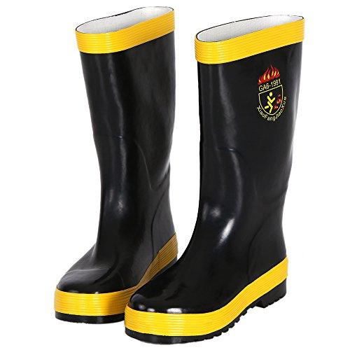 KKmoon Botas Anti-incendios Zapatos Protección contra Incendios Fuego Impermeable Antideslizante Eléctrico a Prueba de Química 4 Tallas(44/43/42/41) Talla 42
