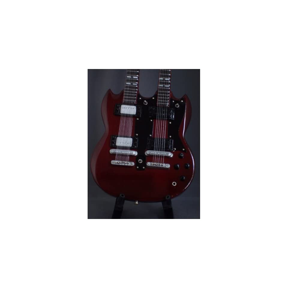 Miniature Guitar LED ZEPPELIN JIMMY PAGE Red Doubleneck